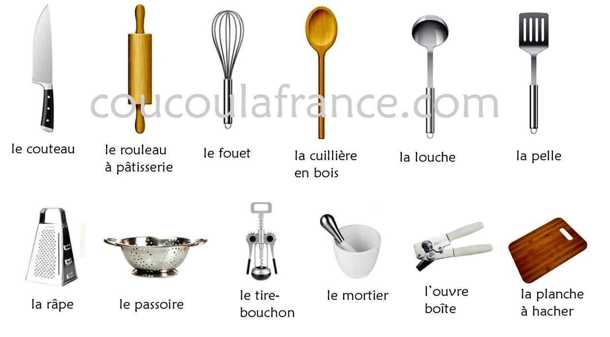 Utensilios de cocina en franc s vocabulario les for Objetos para cocinar